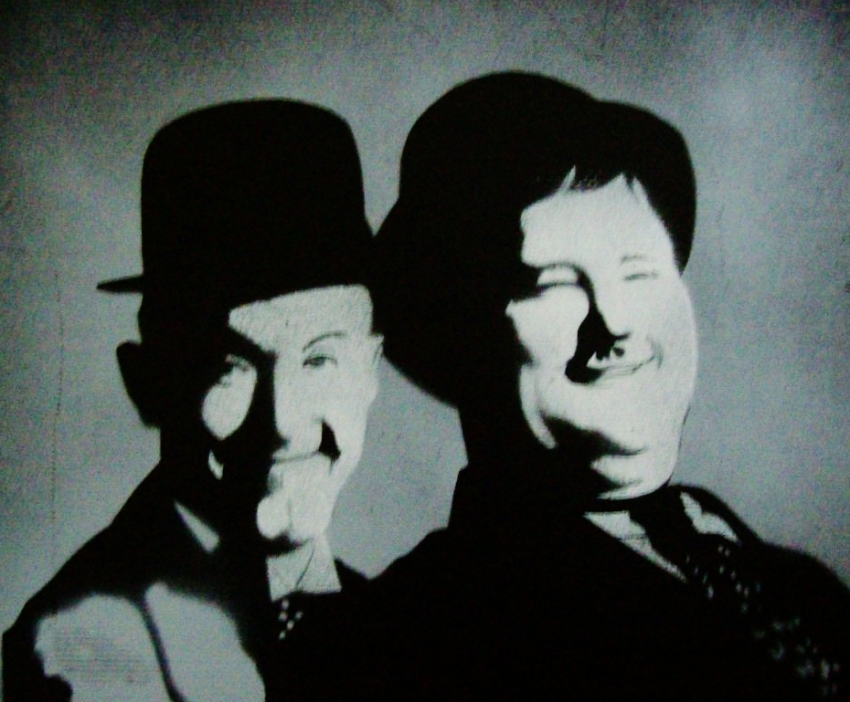 Stan Laurel, Oliver Hardy par Tom-Heyburn